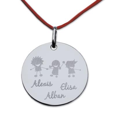 Anhänger Silber Kinder mit Gravur 0154