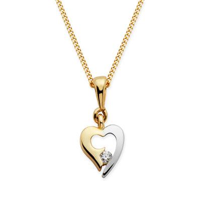 Anhänger Gold Herz - 1043