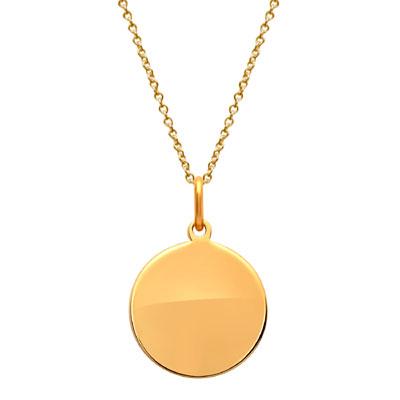 Anhänger Gold Kreis mit Gravur - 1464