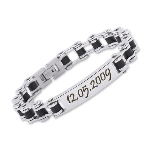 Armband Edelstahl mit Gravur - 0238