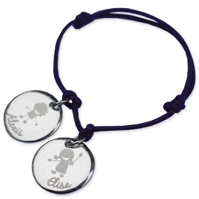 Armband Silber Kinder mit Gravur 0149