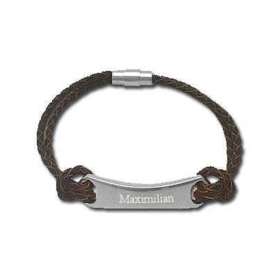 Armband Leder mit Gravur - 0139