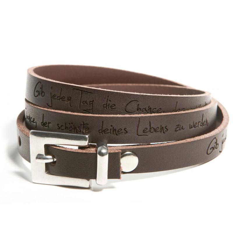 Armband Leder mit Gravur - 1214