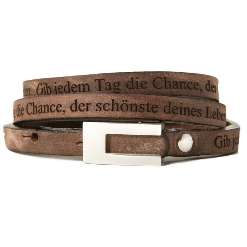 Armband Leder mit Gravur - 1208