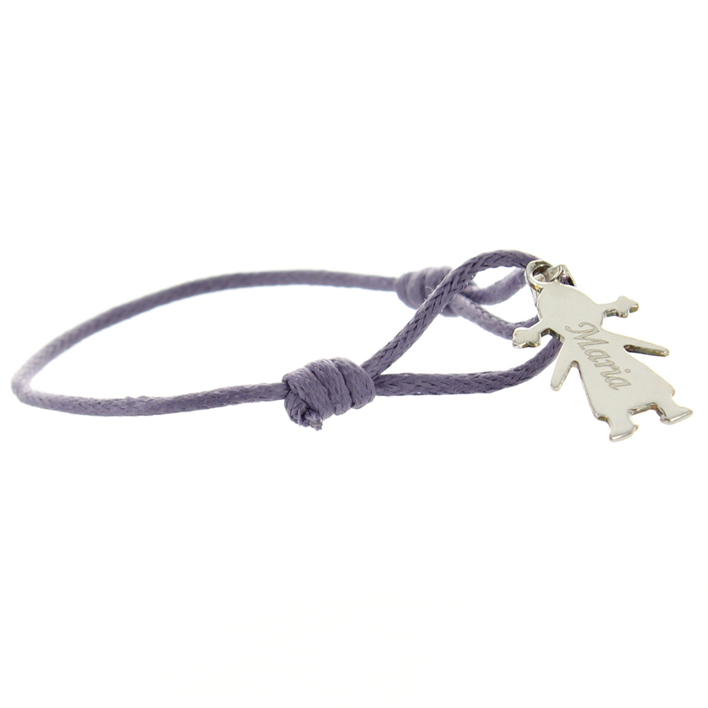 Armband Silber Kind mit Gravur 0098