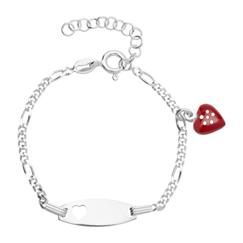 Kinderarmband Silber mit Gravur 0753
