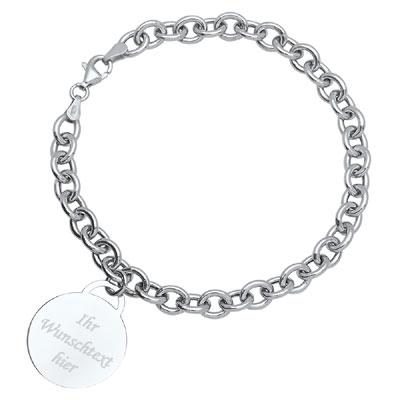 Armband Silber mit Gravur - 1167