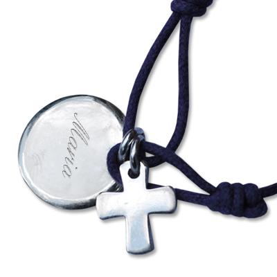 Armband Kreis mit Kreuz 0879