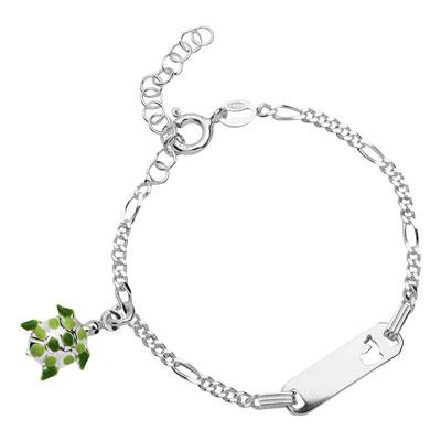Kinderarmband Silber mit Gravur 0750