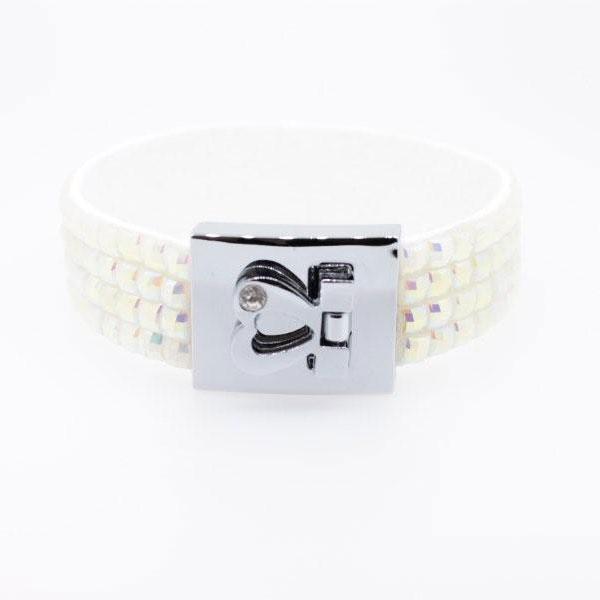 Armband Kristall weiß mit Gravur - 1280