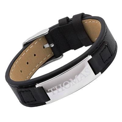 Armband Leder mit Gravur - 0948