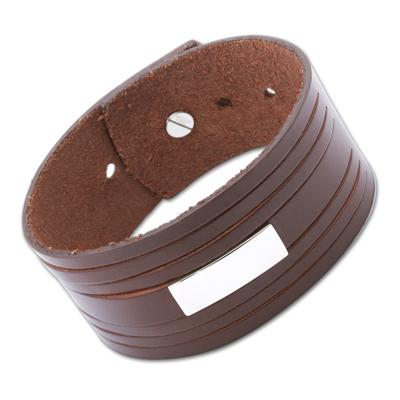 Armband Leder mit Gravur - 0283