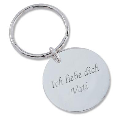 Schlüsselanhänger aus Silber mit Gravur 0093