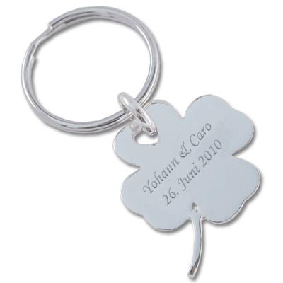 Schlüsselanhänger aus Silber mit Gravur 0090