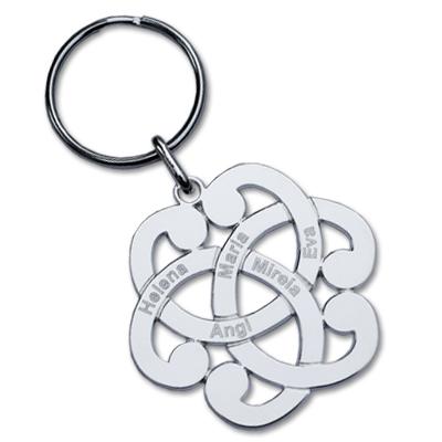Schlüsselanhänger aus Silber mit Gravur 0083