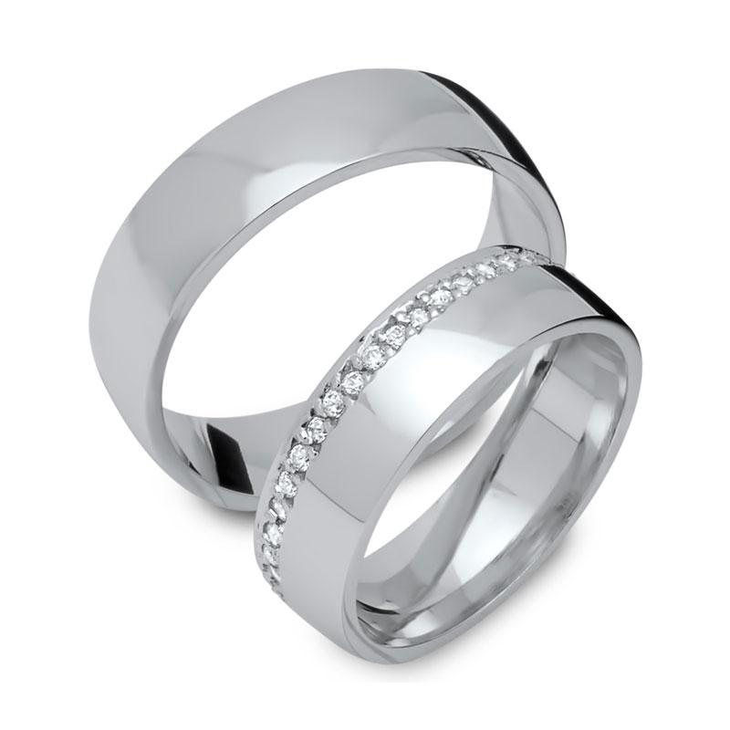 Eheringe Silber mit Gravur - 1283