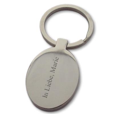 Schlüsselanhänger Edelstahl mit Gravur - 0596