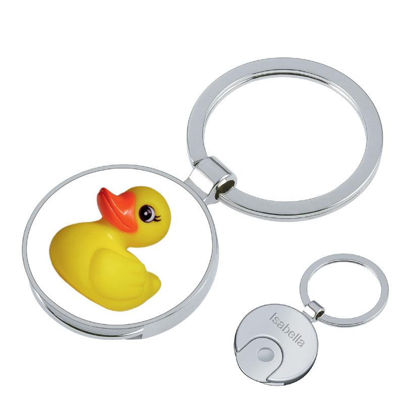 Schlüsselanhänger Ente mit Gravur 1186