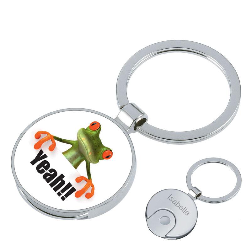 Schlüsselanhänger Frosch mit Gravur 1184