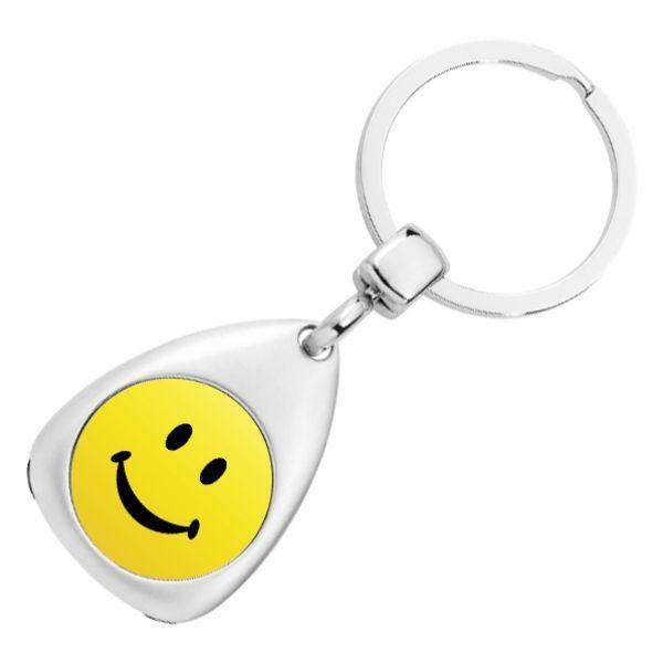 Schlüsselanhänger Smiley mit Gravur 1178