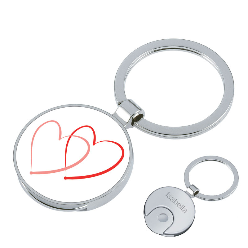 Schlüsselanhänger Herzen mit Gravur 1181