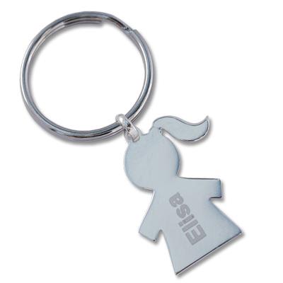Schlüsselanhänger aus Silber mit Gravur 0088