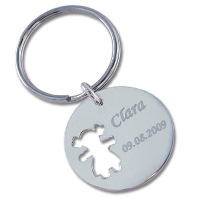 Schlüsselanhänger aus Silber mit Gravur 0087