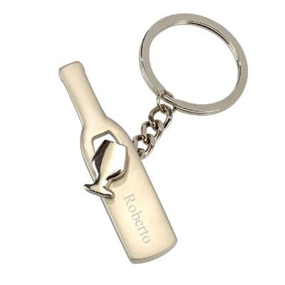 Schlüsselanhänger Flasche mit Gravur 0992