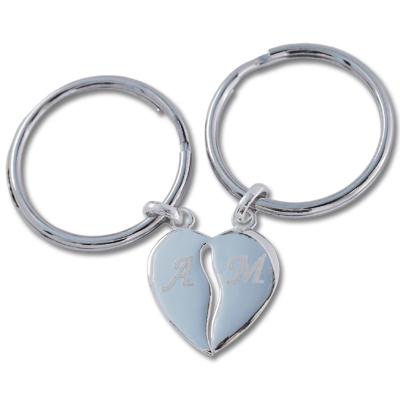 Schlüsselanhänger aus Silber mit Gravur 0089