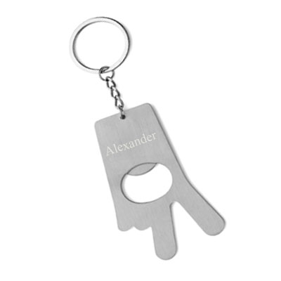 Schlüsselanhänger Peace mit Gravur 0989
