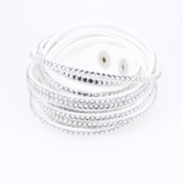 Wickelarmband Kristall weiß - 1277