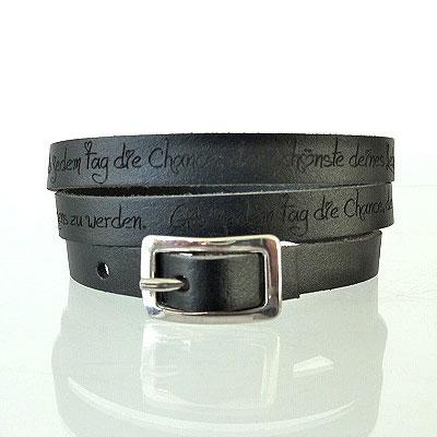 Armband Leder mit Gravur - 0850